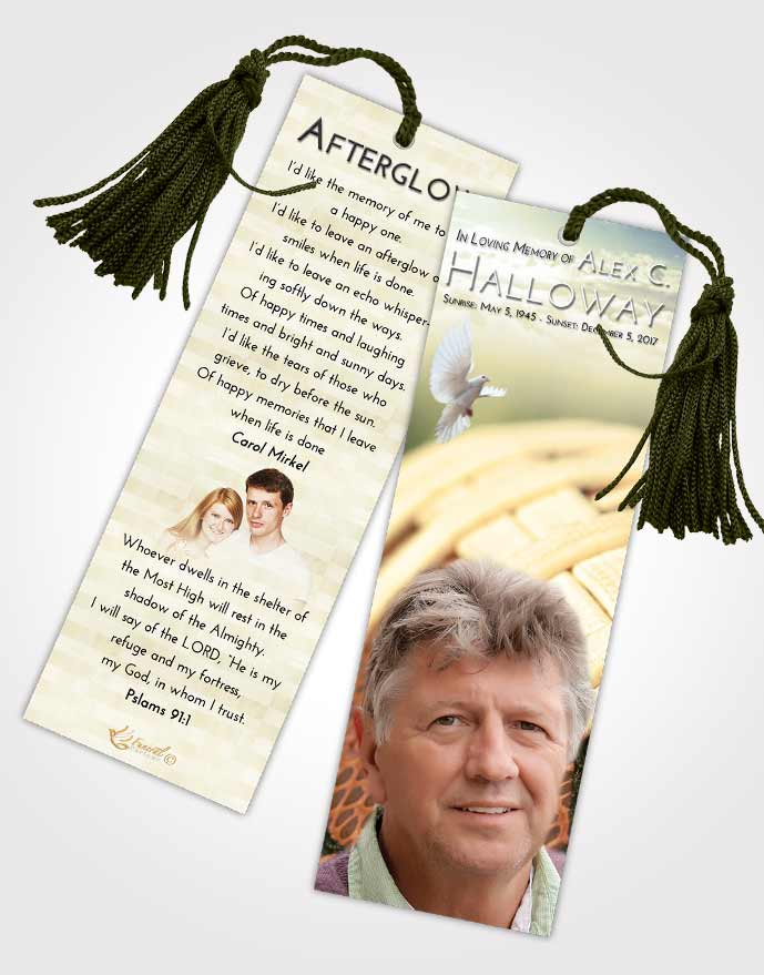 Funeral Bookmark Template At Dusk Football Life