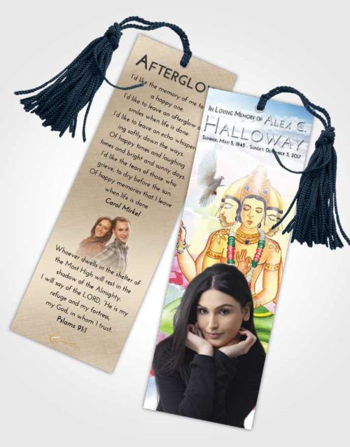 Funeral Bookmark Template Early Brahma Surprise