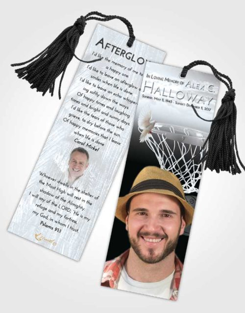 Funeral Bookmark Template Freedom Basketball Journey