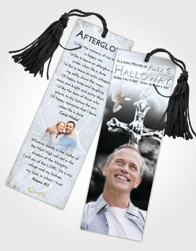 Funeral Bookmark Template Freedom Rosary Life