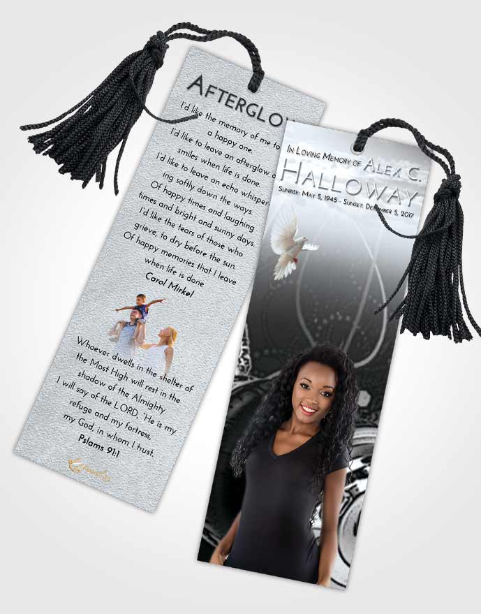 Funeral Bookmark Template Freedom Vivace