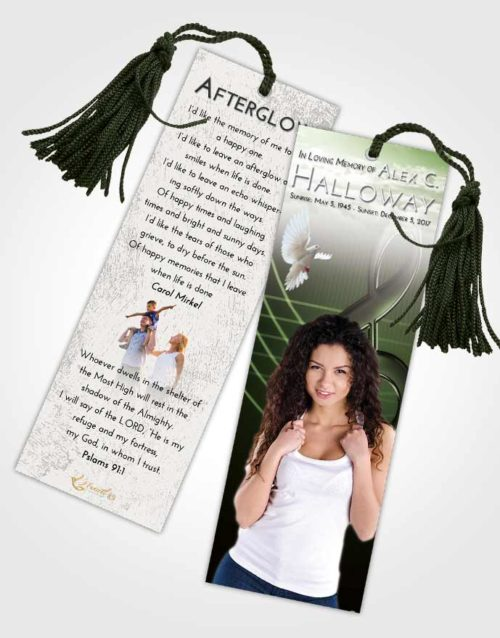 Funeral Bookmark Template Loving Allegro