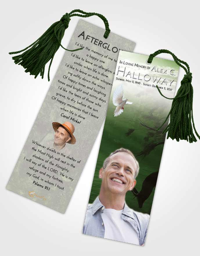 Funeral Bookmark Template Loving Deer Hunt