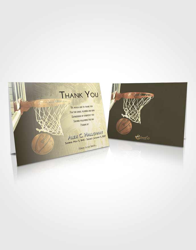 Funeral Thank You Card Template At Dusk Basketball Journey