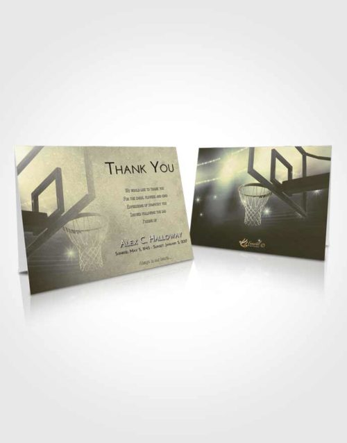 Funeral Thank You Card Template At Dusk Basketball Pride