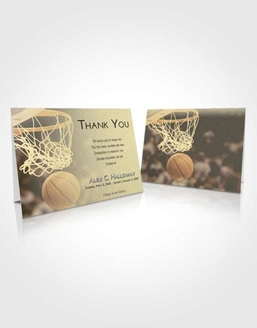 Funeral Thank You Card Template At Dusk Basketball Swish