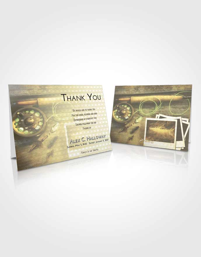 Funeral Thank You Card Template At Dusk Fishing Pride