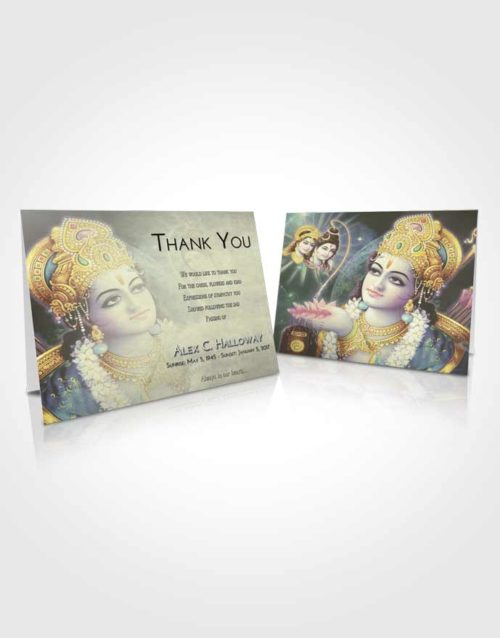 Funeral Thank You Card Template At Dusk Hindu Majesty