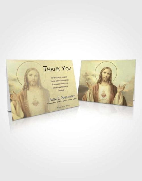 Funeral Thank You Card Template At Dusk Jesus our Lord