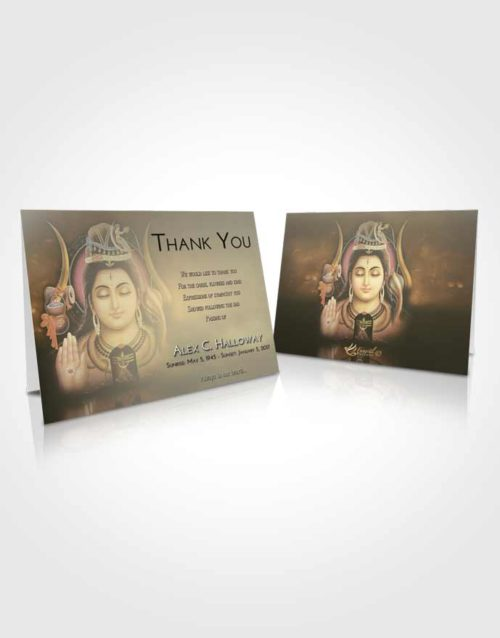 Funeral Thank You Card Template At Dusk Lord Shiva Dignity