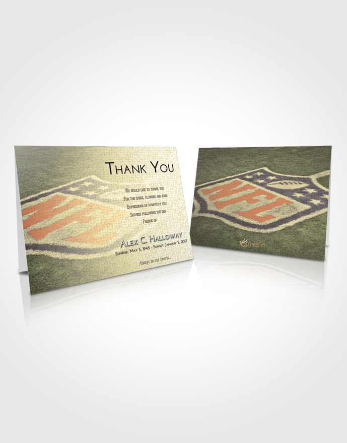 Funeral Thank You Card Template At Dusk NFL Football