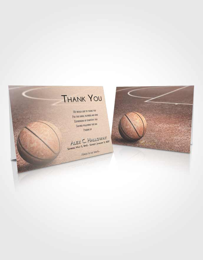Funeral Thank You Card Template Early Basketball Love