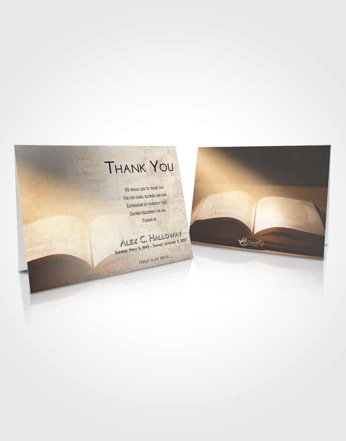 Funeral Thank You Card Template Early Bible Faith