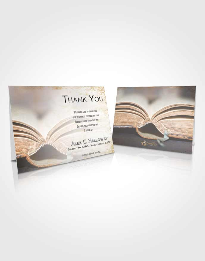 Funeral Thank You Card Template Early Bible Love