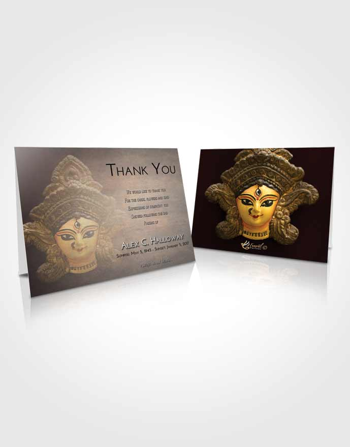 Funeral Thank You Card Template Early Durga Surprise