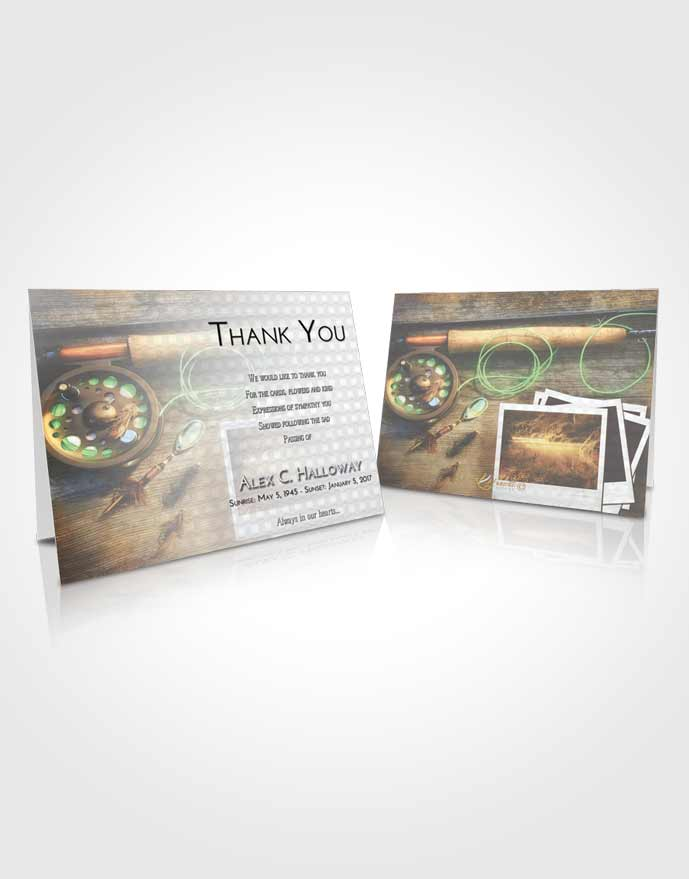 Funeral Thank You Card Template Early Fishing Pride