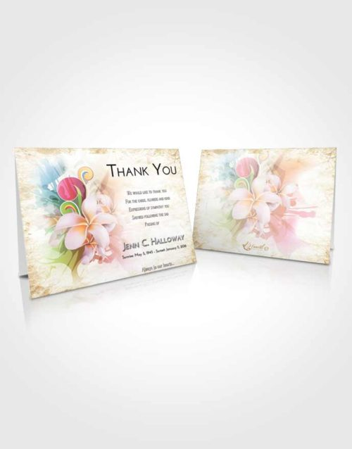 Funeral Thank You Card Template Early Floral Wish