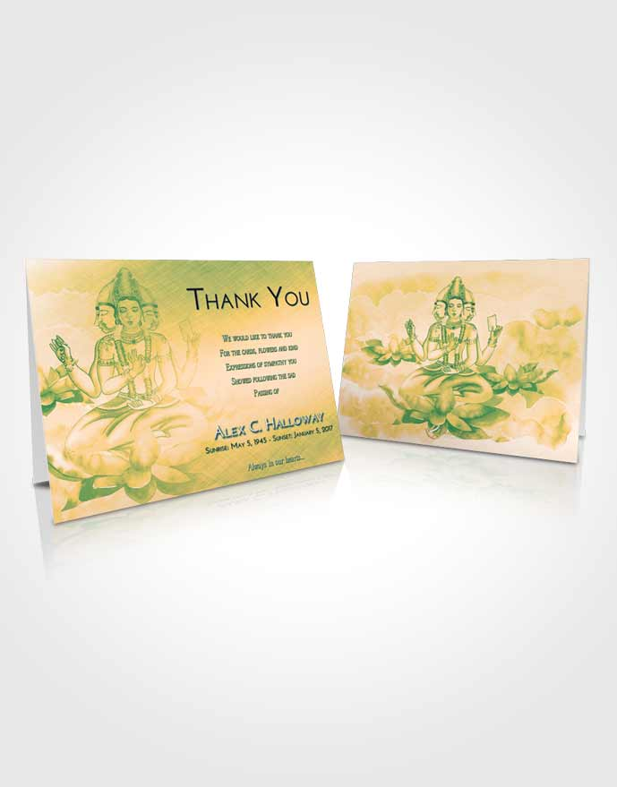 Funeral Thank You Card Template Emerald Serenity Brahma Surprise