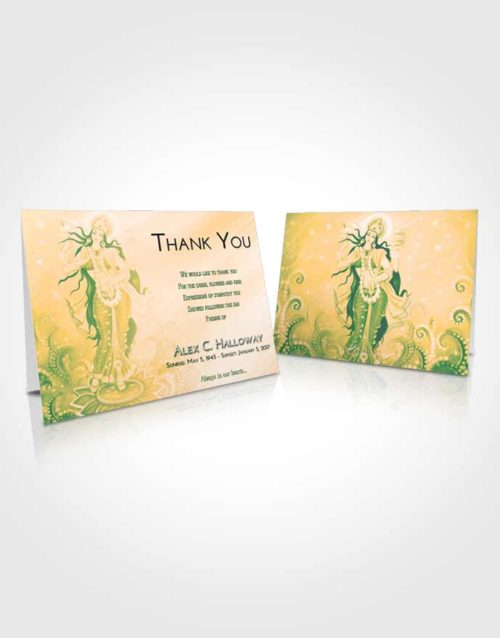 Funeral Thank You Card Template Emerald Serenity Lakshmi Divinity