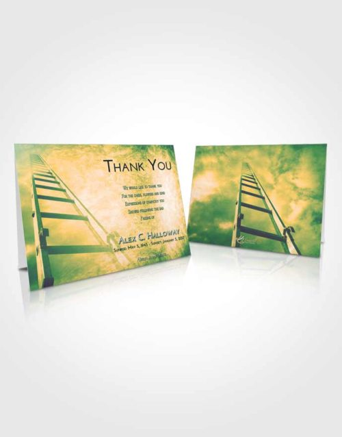 Funeral Thank You Card Template Emerald Serenity Stairway to Forever