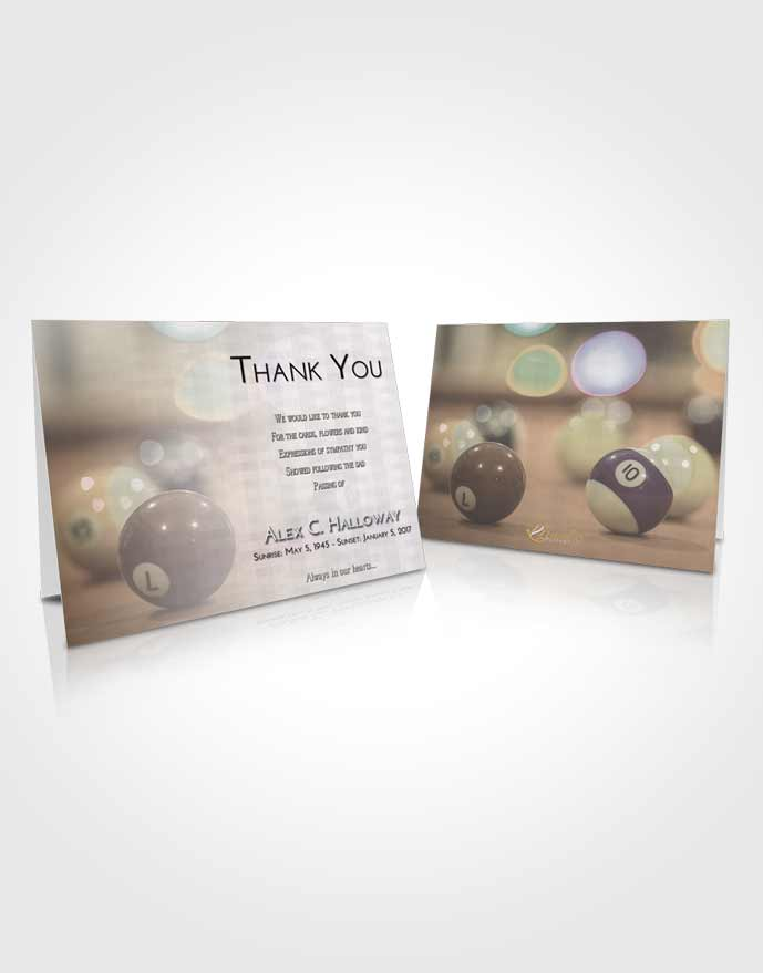 Funeral Thank You Card Template Evening Billiards Tranquility