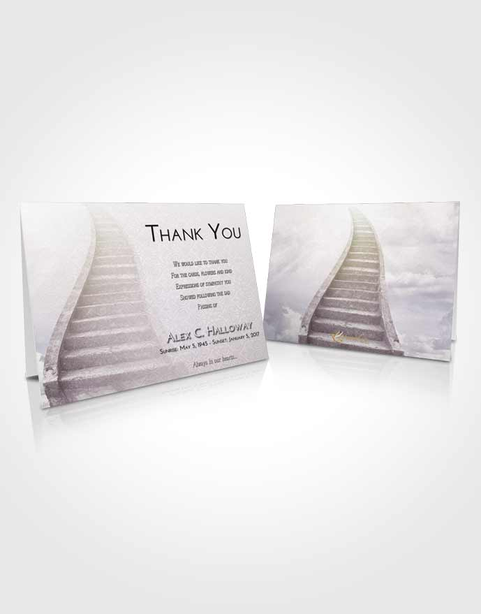 Funeral Thank You Card Template Evening Stairway to Bliss