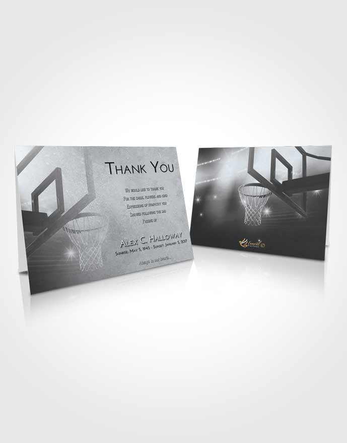 Funeral Thank You Card Template Freedom Basketball Pride