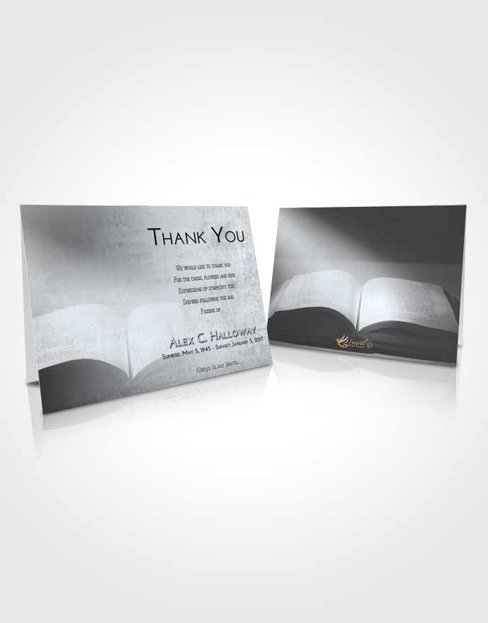 Funeral Thank You Card Template Freedom Bible Faith