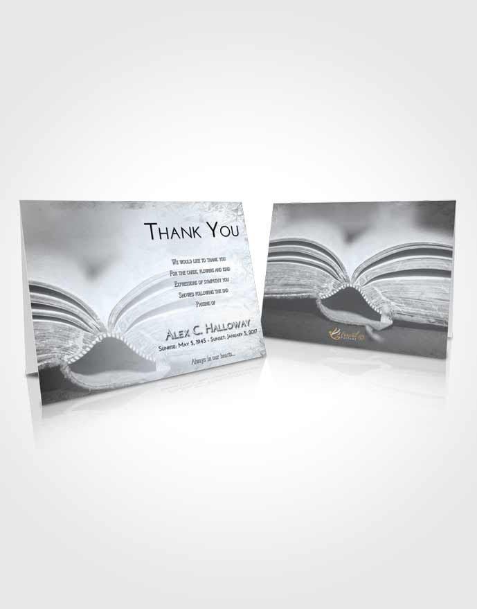 Funeral Thank You Card Template Freedom Bible Love