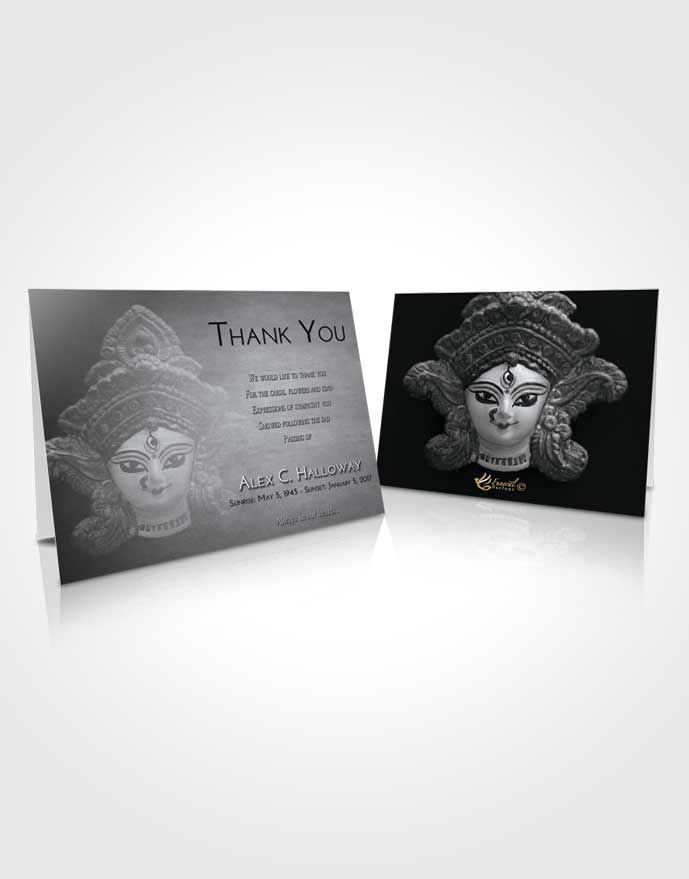 Funeral Thank You Card Template Freedom Durga Surprise