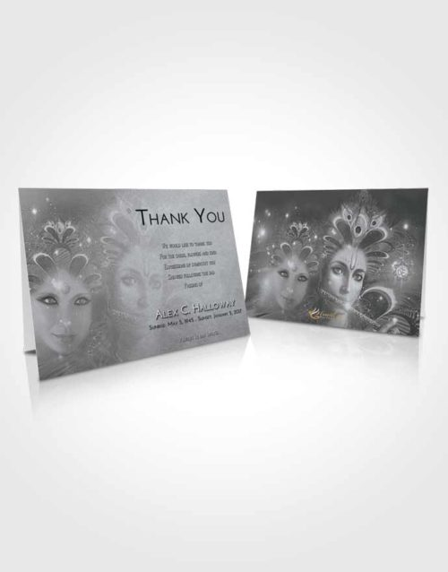 Funeral Thank You Card Template Freedom Hindu Desire