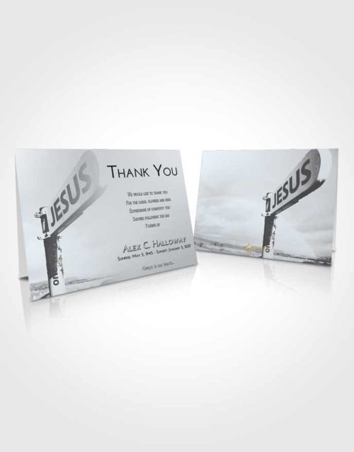Funeral Thank You Card Template Freedom Road to Jesus
