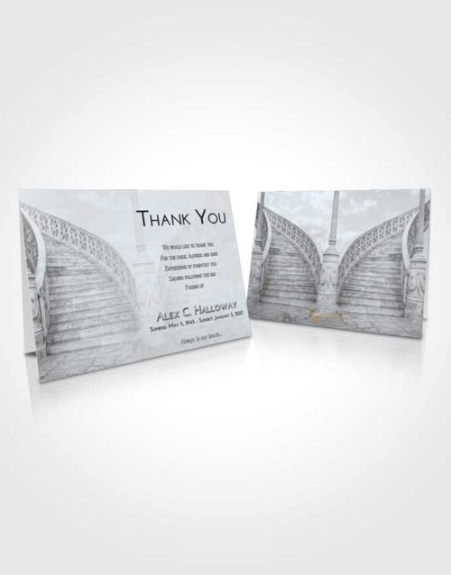 Funeral Thank You Card Template Freedom Stairway of Love