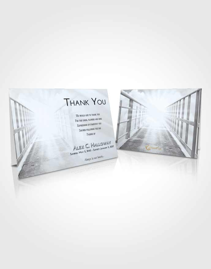 Funeral Thank You Card Template Freedom Stairway to Faith