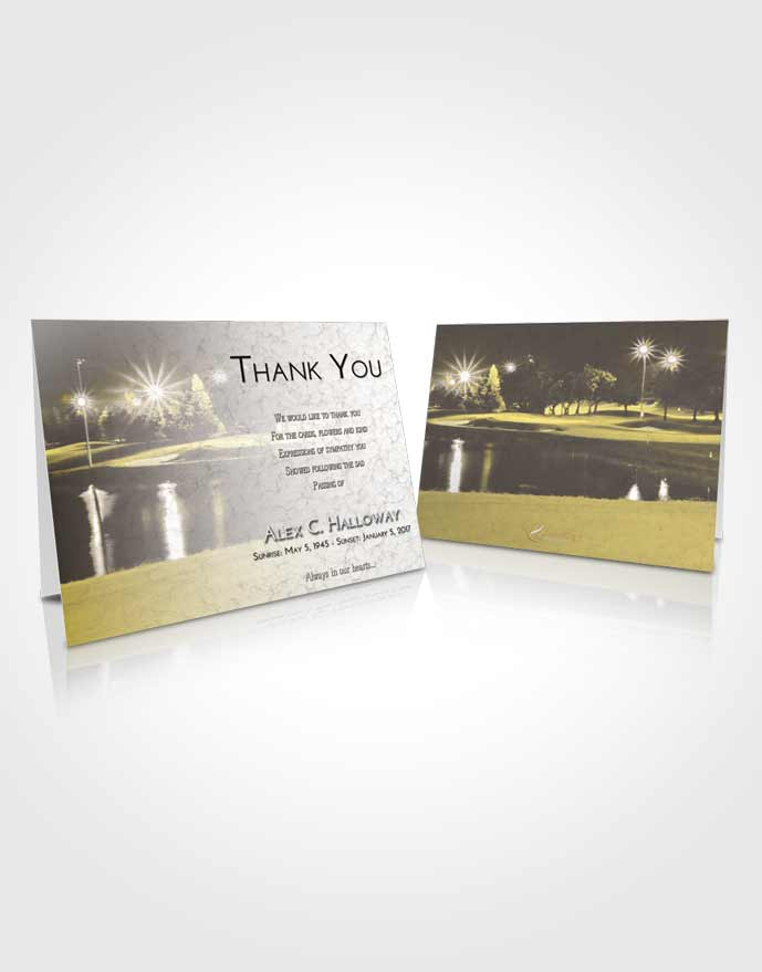 Funeral Thank You Card Template Harmony Golf Paradise