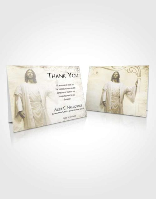 Funeral Thank You Card Template Harmony Jesus in the Clouds