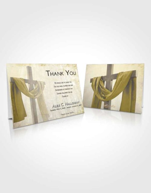 Funeral Thank You Card Template Harmony Loving Cross