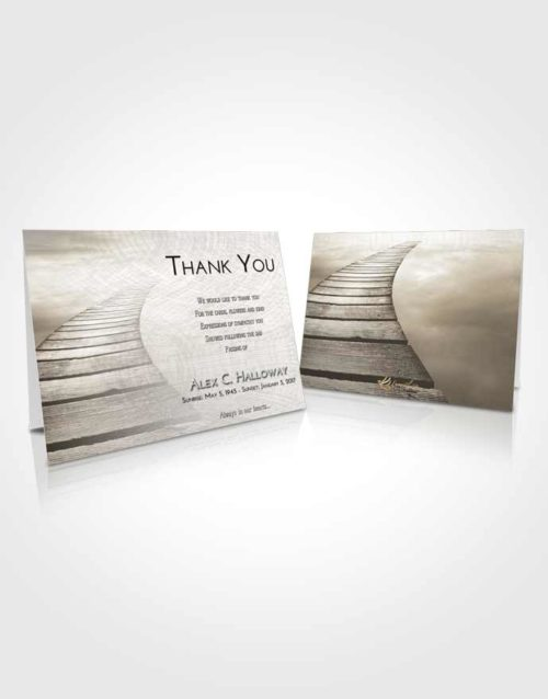 Funeral Thank You Card Template Harmony Stairway to Life