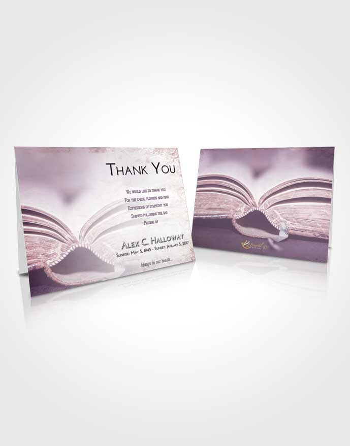 Funeral Thank You Card Template Lavender Sunrise Bible Love