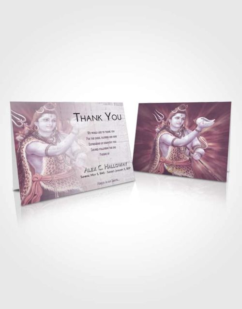 Funeral Thank You Card Template Lavender Sunrise Lord Shiva Excellence