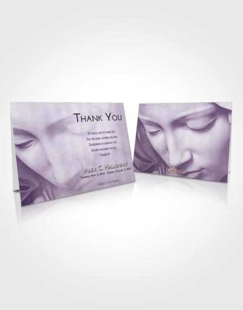 Funeral Thank You Card Template Lavender Sunrise Virgin Mary