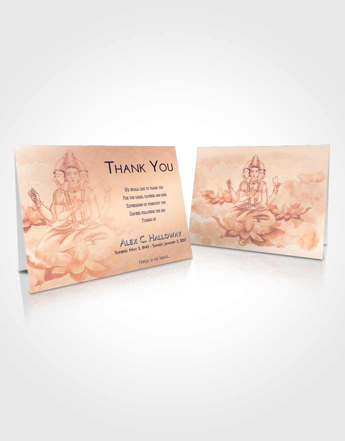 Funeral Thank You Card Template Lavender Sunset Brahma Surprise