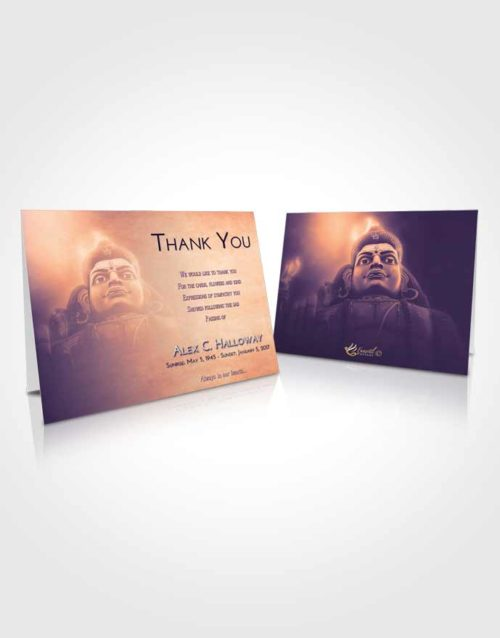 Funeral Thank You Card Template Lavender Sunset Shiva Surprise