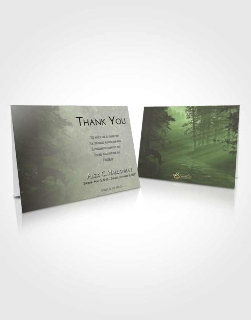 Funeral Thank You Card Template Loving Deer Hunt