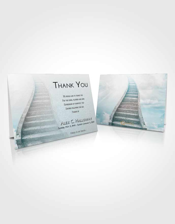 Funeral Thank You Card Template Loving Embrace Stairway to Bliss