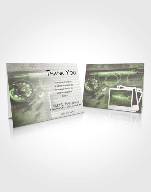 Funeral Thank You Card Template Loving Fishing Pride