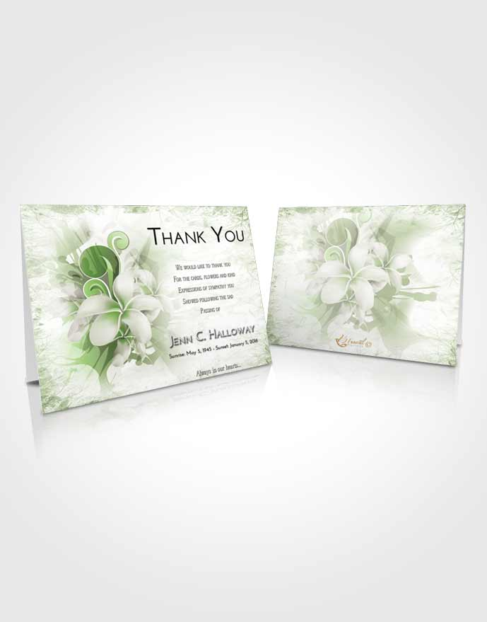 Funeral Thank You Card Template Loving Floral Wish