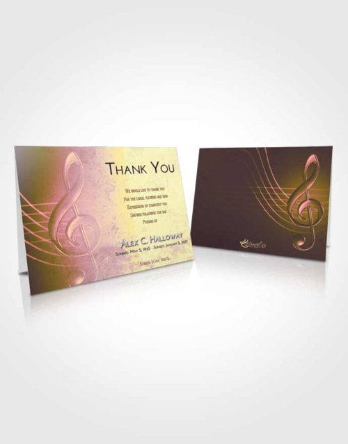 Funeral Thank You Card Template Loving Mix Allegro