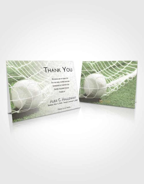Funeral Thank You Card Template Loving Soccer Pride
