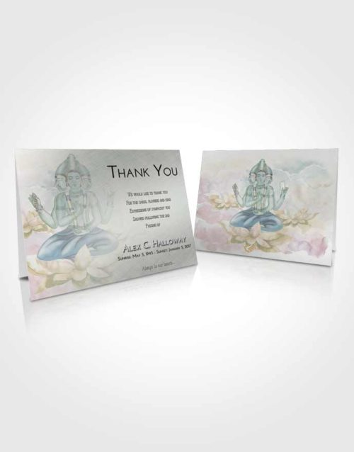 Funeral Thank You Card Template Morning Brahma Surprise